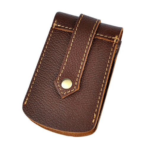 Vintage Genuine Leather Men Car Key Bag Holder Case Waist Bag Key Chains Rings