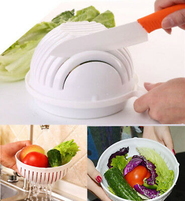 60 Seconds Salad Maker Healthy Fresh Salads Made Easy Salad Cutter Bowl Bowls US