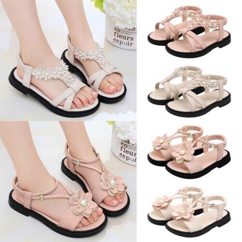 Kids Flower Breathable Roman Princess Sandals Children Girls Comfort Beach Shoes