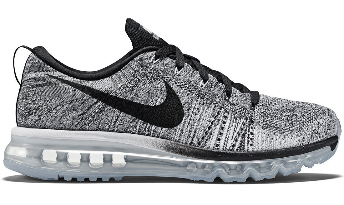 NIKE FLYKNIT MAX OREO WHITE BLACK US 9,5-12 trainer 620469-102 ld-zero air 2017