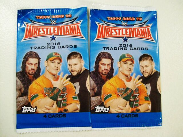 2016 WWE Topps Road To Wrestlemania Trading Cards, Two 4 Card Packs, 8 Cards