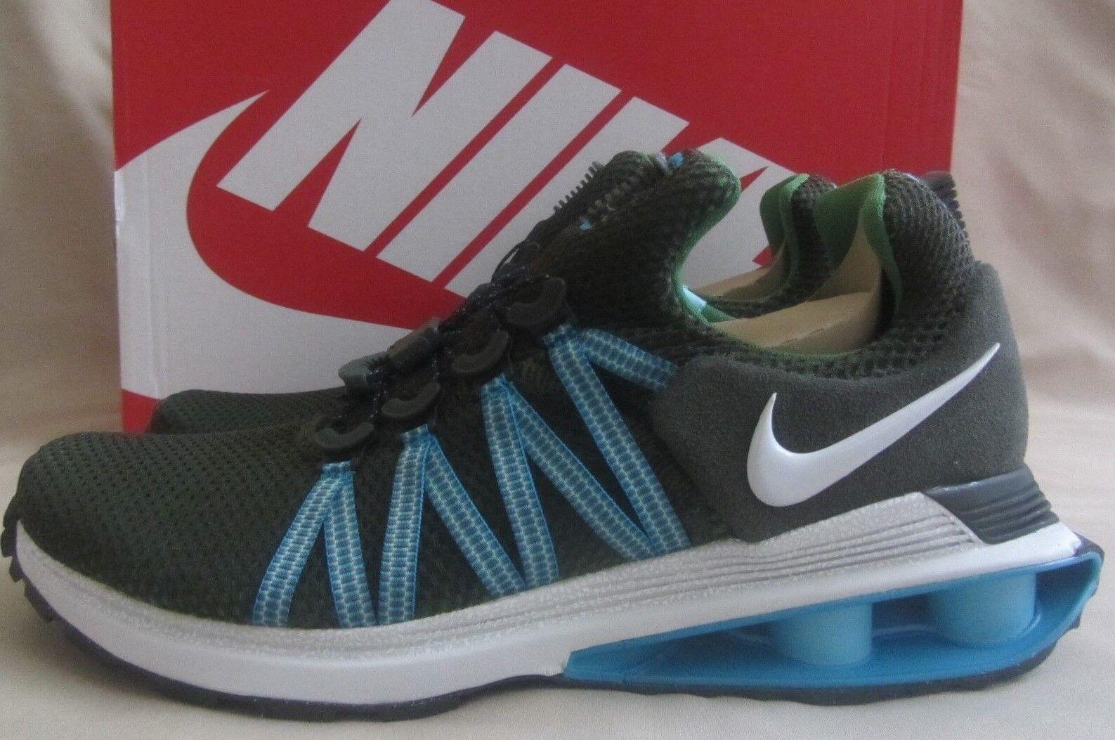 Nike Shox Gravity Sneakers Mens 10 Sequoia Green Aqua bluee New With Box