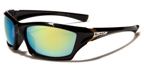 X-Loop uomo Gents colore lente a specchio retro in plastica Sport Occhiali da sole XL536 NUOVO
