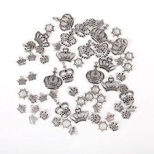 50 pcs Vintage Silver Zinc Alloy Funny Skull Head Charms Necklace Pendants 51993