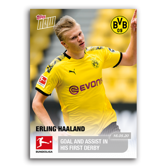 2020 Topps Now Bundesliga 144 Erling Haaland Goal And Assist In First Derby Ebay