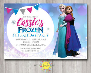 graphic regarding Printable Frozen Birthday Invitations referred to as Facts in excess of Tailor made Printable Frozen Birthday Invitation Pink/Blue Bokeh Any Age Elsa Anna