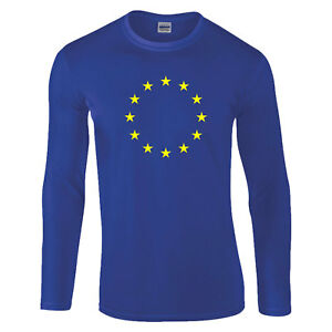 European-Union-EU-Stars-Flag-Brexit-Remain-Royal-Blue-Gift-LONGSLEEVE-T-Shirt