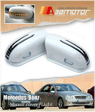 LED WHITE Side Mirror Covers for Mercedes 2003-2005 W211 Pre-Facelift E-CLASS