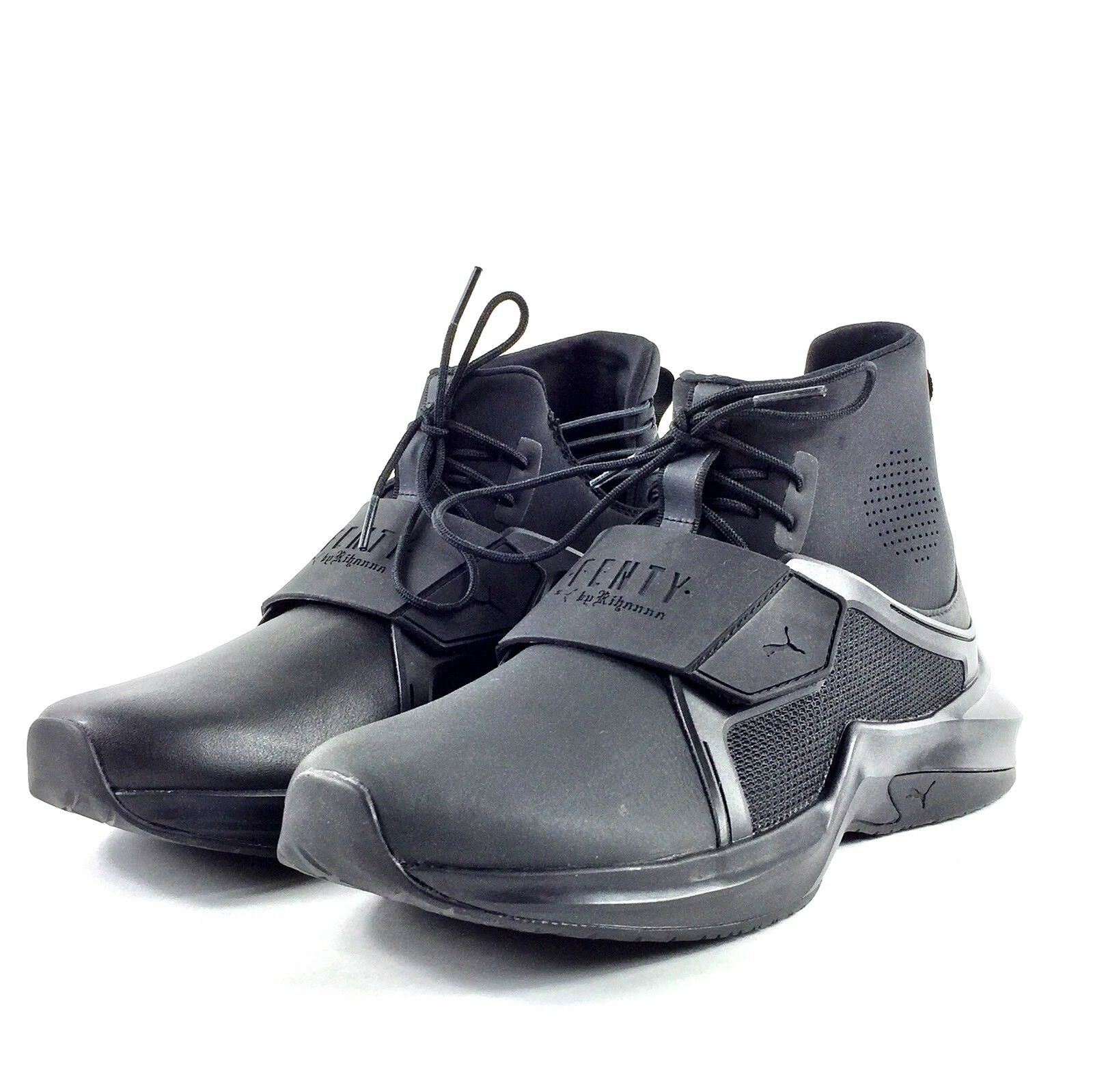 Puma X Rihanna Fenty Trainer Hi Femme Casual chaussures noir 190398 01 Sz