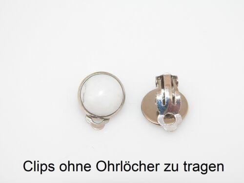 Ohrclips Ohrschmuck Ohrring Cabochon Edelstahl Fantasy Motiv Muster Auswahl c02a