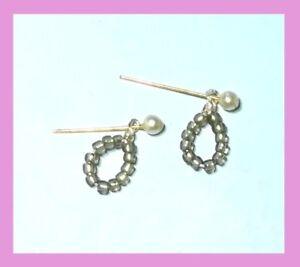 Dreamz GOLD HOOPS HOOP EARRINGS Doll Jewelry VINTAGE REPRO made for Barbie
