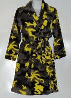 Joe Boxer Boy's Plush Fleece Flame Resistant Belted Wrap Robe Multi M/8