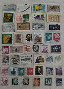 Deutsche Bundespost Germany 51 used Stamps 1950's - 1980's  UK Seller #55