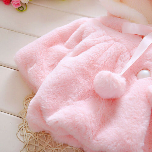 US Newborn Baby Boy Girl Hooded Coat Winter Warm Thick Cloak Jacket Clothes Soft