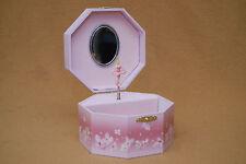 Octagonal Spinning Ballerina Music Box Jewelry Box
