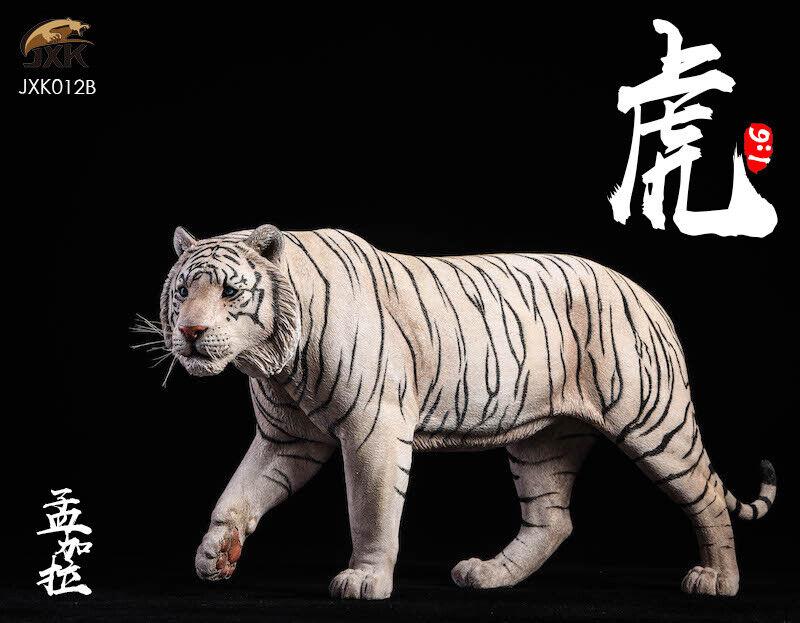 Jxk JXK012 1 6th Escala Modelo Estatua blancoo Bengal Tiger Animal Juguete Regalo