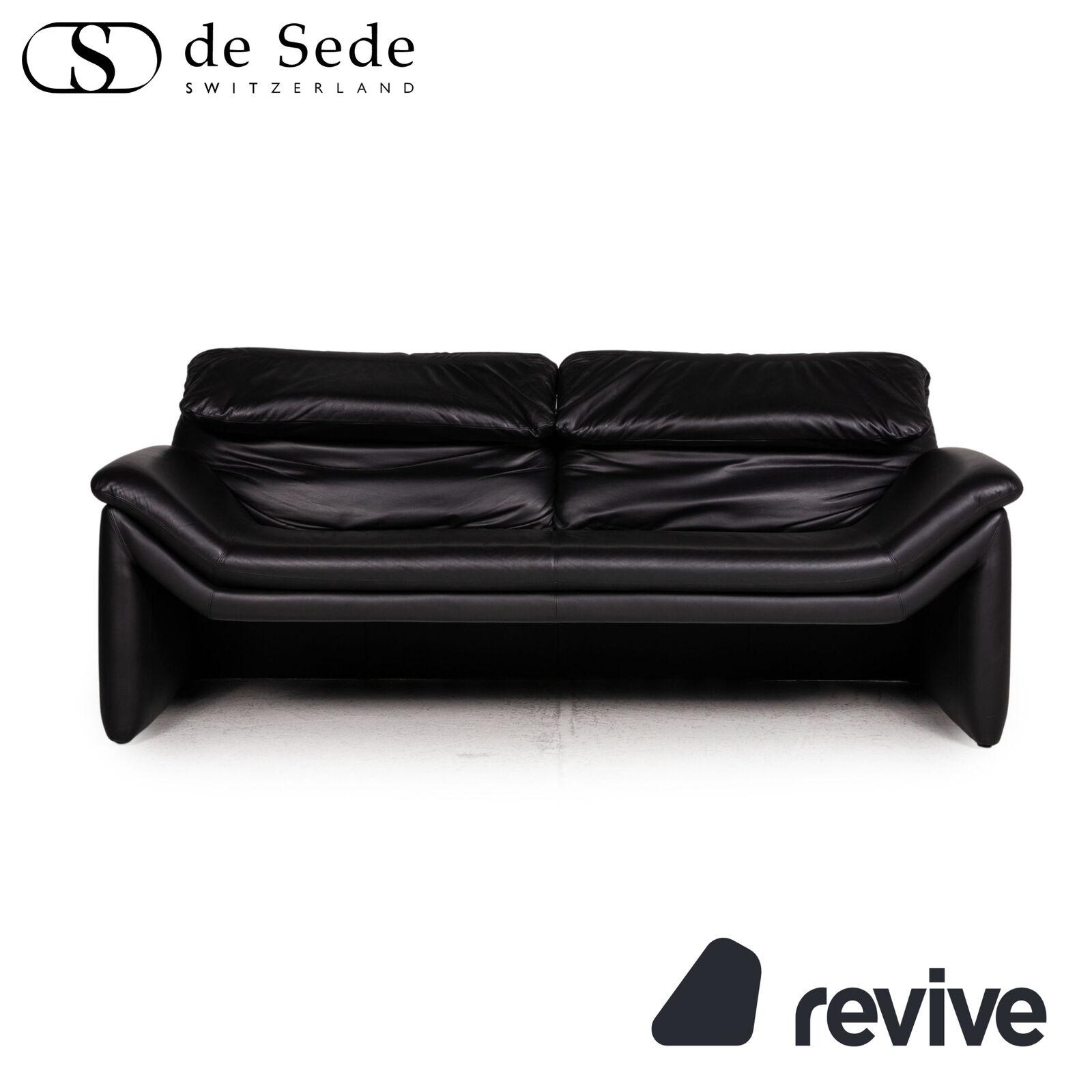 De den Sitz der sofá de cuero negro de dos plazas sofá función relaxfunktion