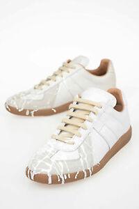 MAISON-MARGIELA-women-Sneakers-MM22-Sz-38-IT-Grey-Leather-Low-Top-Shoes-Gray