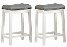 Angel Line 43418 21 Cambridge Padded Saddle Stool Pair Of 2 For Sale Online Ebay