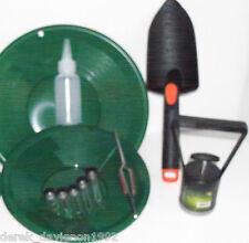 """INTERNATIONAL  Green 10"""" & 8"""" Gold Pans & Gold Pan Panning Kit"""