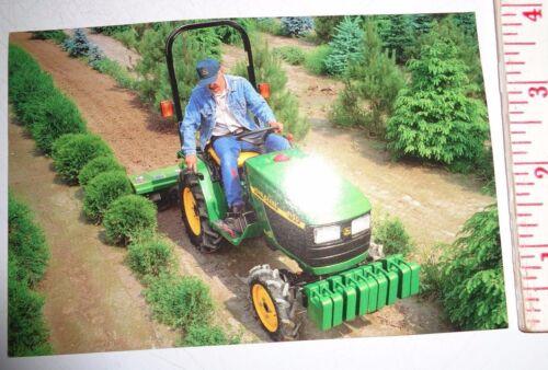 *John Deere Dealers 4100 Compact Tractor Postcard New Old Stock!1997 literature