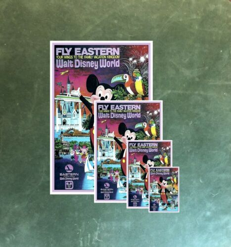 EASTERN AIRLINES B2G1FREE!! WALT DISNEY WORLD COLLECTOR POSTER 4 SIZES