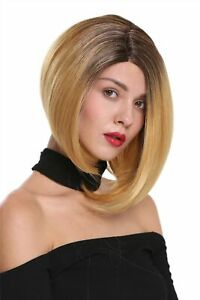 Ladies Wig Lace Front Parting Short Smooth Long Bob Ombre Braun