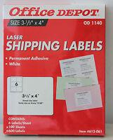 Office Depot Laser Shipping Labels Od 1140 600 Labels, 100 Sheets L499