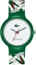 Unisex Green Lacoste Goa Croc Print Silicone Band Watch 2020060