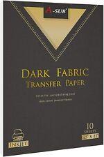 A Sub Printable Inkjet Iron On Heat Transfer Vinyl Paper For Dark Cotton Fabrics