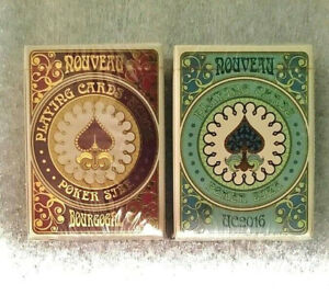 Set-of-2-LIMITED-NOUVEAU-BOURGOGNE-and-BIJOUX-UC-039-16-ANNUAL-DECK-Playing-Cards
