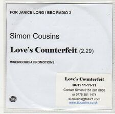 (EP977) Simon Cousins, Love's Counterfeit - 2011 DJ CD