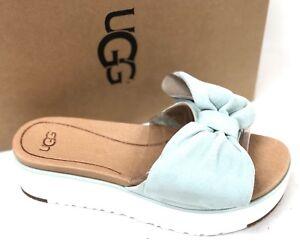 1d59f505d1bf UGG Australia Women s Joan Aqua Blue 1019868 Bow Tie Sandal Shoes ...