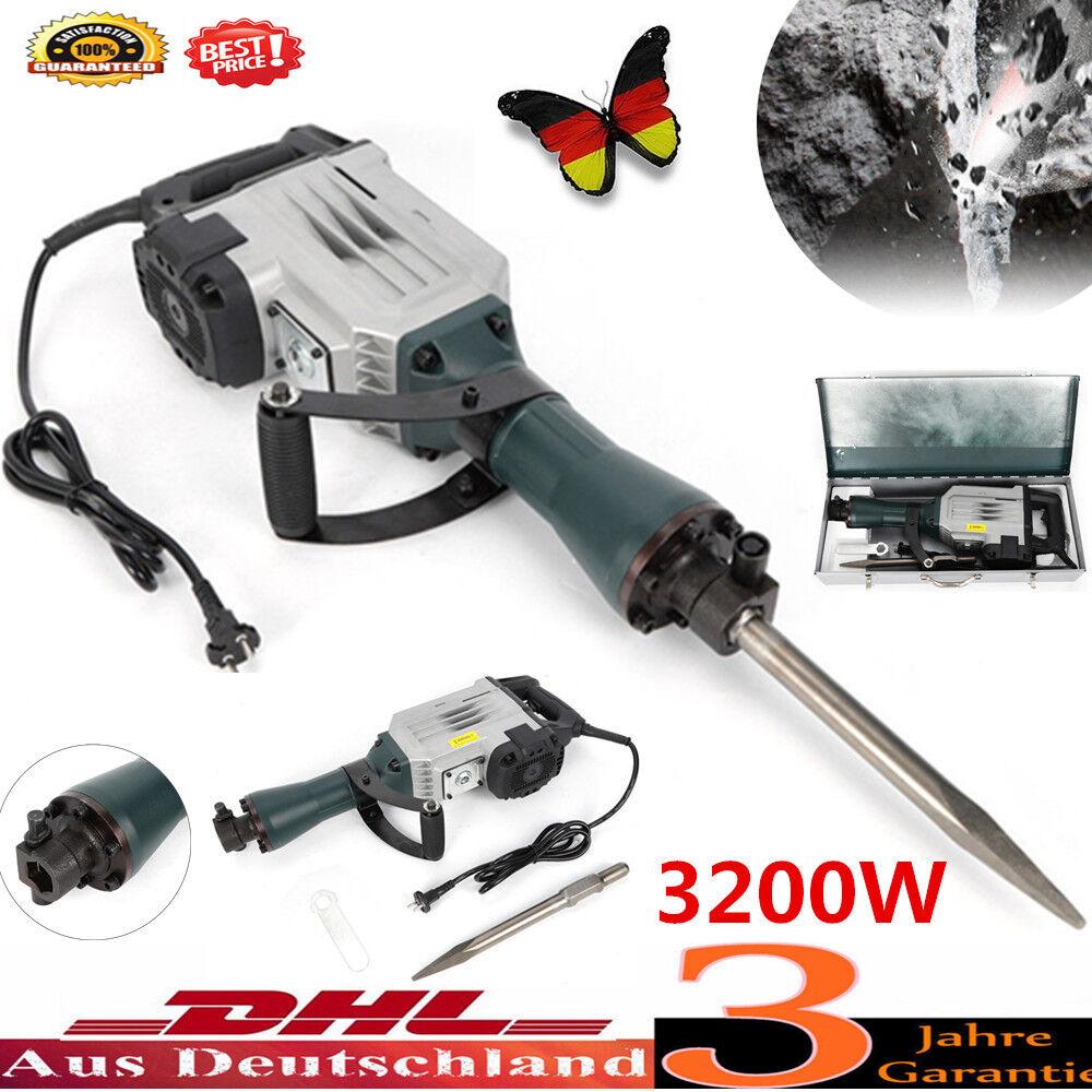 Bohrhammer Stemmhammer Meißelhammer Schlaghammer Abbruchhammer 3200W 1850BPM DHL