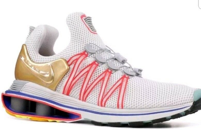 260d1f189fd5 ... NEW NIKE Shox GRAVITY GRAVITY GRAVITY Casual running Shoes AQ8553-009  WHITE GOLD  ...