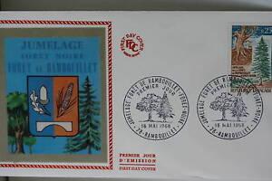 ENVELOPPE-PREMIER-JOUR-SOIE-1968-RAMBOUILLET-FORET-NOIR