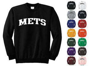 100% authentic ba41c abcbf Details about Mets Adult Crewneck Sweatshirt College Letter