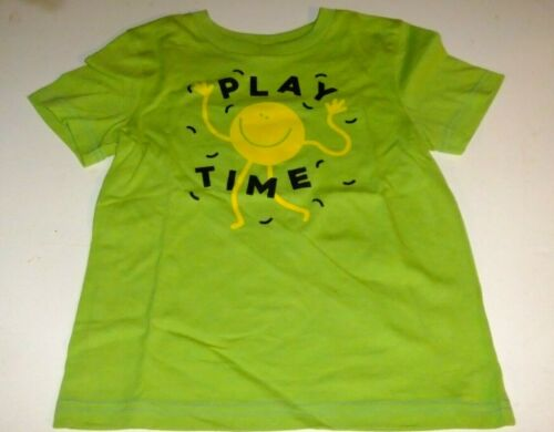 4T PLAY TIME Shirt Short Sleeve Green FUN HAPPY Details about  /NWT Toddler Boys 3T