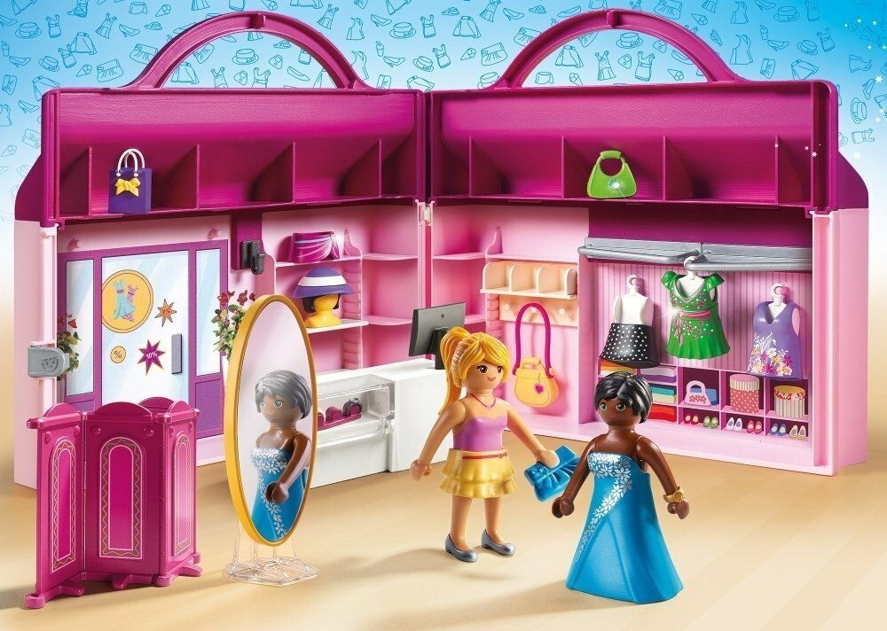 Playmobil  Maletín Plegable Tienda de Moda Fashion Girls Juguete Niña Niño
