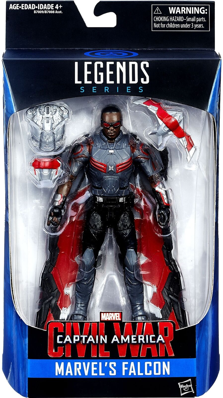 Captain america bürgerkrieg marvel - legenden marvel ist falcon exklusive action - figur