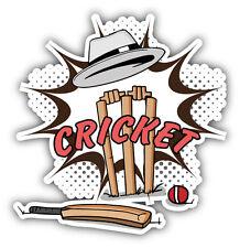 Cricket Comic Book Emblem Car Bumper Sticker Decal 5'' x 5''