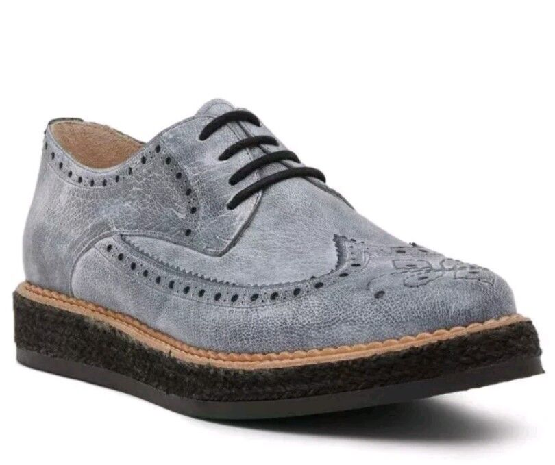 Diesel D-Creep Deep Creep Brogue Oxfords 9 Grey NIB  350 Wingtip shoes