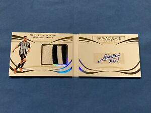 2020 Immaculate Soccer MIGUEL ALMIRON Booklet Patch AUTO /93 Newcastle United
