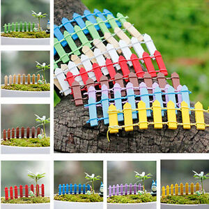 5PCS-Lots-Wooden-Palisade-Fence-Garden-Ornament-Plant-Pot-Fairy-Scenery-Decor-FT