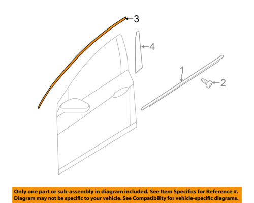 KIA OEM 11-16 Optima Front Door-Frame Molding Left 828502T000