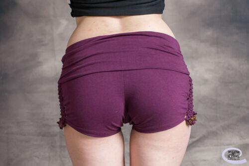 HIPPY HOT PANTS SHORTS Knotting Weave Mini Shorts Psytrance Festival Beach Goa