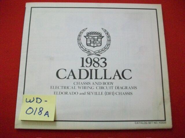 1983 Gm Cadillac Eldorado  U0026 Seville  U0026quot  Dfi  Chassis U0026quot  Elect