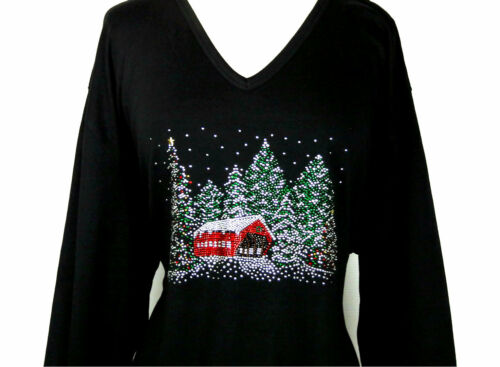 Snowy 4 Strass Top Sleeve 1 abbellito x Plus Winter Christmas Design 3 Tree qxY8UWt