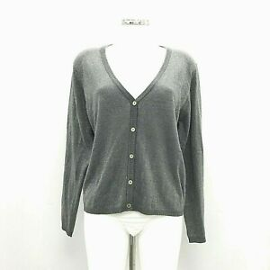 NEW-CLAIRE-GROUP-Grey-Sparkle-Cardigan-Everyday-or-Evening-Button-Up-B120126