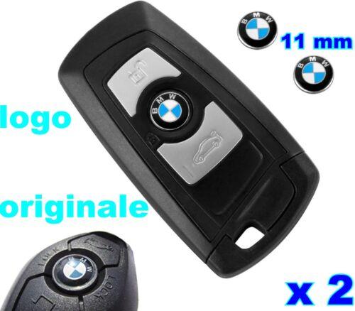 LOGO STEMMA ORIGINALE BMW  ADESIVO PULSANTE CHIAVE PER BMW 11mm 2 PEZZI